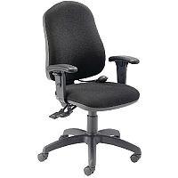 Cappela Intro Black Ergonomic Posture Office Chair Plus Arms KF838994