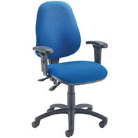 First High Back Operators Office Chair Blue with Adjustable Arms KF839245