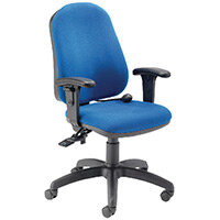 FR First High Back Ergonomic Posture Office Chair with Adjustable Arms Blue KF839325