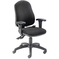 FR First High Back Ergonomic Posture Office Chair with Adjustable Arms Black KF839326