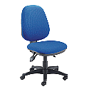 High Back Operator Chair With Height & Seat Angle Adjustment Blue