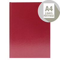 Desk Diary A4 2 Days Per Page 2020 Burgundy KFA42BG20
