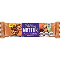 Cadbury Nuttier Peanut/Almond Chocolate 40g Pack of 15 4260510