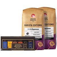 Buy 2 Douwe Egberts Rich Espresso Beans 1kg FOC Green and Blacks Miniatures
