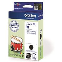 Brother LC22UBK Black Super High Yield Inkjet Cartridge LC-22U
