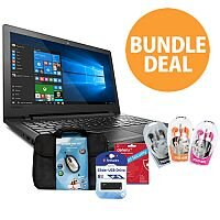 "Lenovo IdeaPad 110 15.6"" Laptop Bundle Deal Win10 - Laptop Bag - USB Stick - Antivirus"