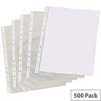 Punched Pocket A4 Pk500 Clear 30 Micron Pm22312