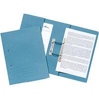 Pocket Spiral Files 285gsm Foolscap Blue Pack of 25 TPFM-BLUZ