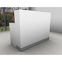 Organic Modern White Straight Reception Desk W1400mmxD660mmxH1105mm