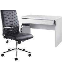 Luxor Home Office Workstation & Martinez High Back Managers Chair