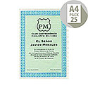 DECAdry A4 Turquoise/Blue Bordered Certificate Papers 115gsm Pack 25