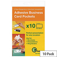 Pelltech Business Card Pocket 60x95mm Open Side Pk 10 PLH25510