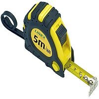 Linex Tape Measure 5m Black/Yellow (Pack of 1) EMT5001
