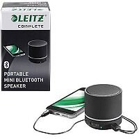 Leitz Black Complete Portable Mini Bluetooth Speaker – Portable, Bluetooth 4.0, 10M Range, Wired and Wireless, 400 mAh, 6-Hour Battery Life & Integrated MP3 Player (63580095)