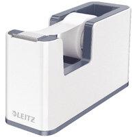 Leitz WOW Tape Dispenser White/Grey 53641001