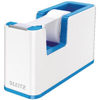Leitz WOW Tape Dispenser White/Blue 53641036