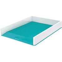Leitz WOW Letter Tray Dual Colour White/Ice Blue 53611051