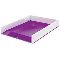 Leitz WOW Letter Tray Dual Colour White/Purple 53611062