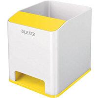 Leitz WOW Sound Pen Holder Dual Colour White/Yellow 53631016