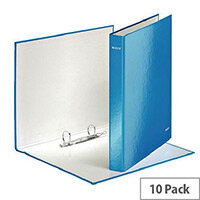 Leitz WOW A4 Plus 25mm 2 D-Ring Binder Blue Pack of 10 42410036