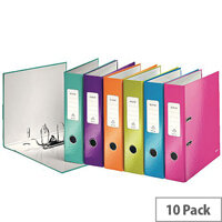Leitz Wow Lever Arch File A4 50mm Assorted Pack of 10 10060099