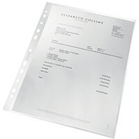 Leitz Pocket Recycled PP 100 micron A4 Clear Pack of 25 47913003