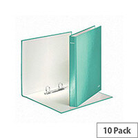 Leitz WOW A4 Plus 25mm 2 D-Ring Binder Ice Blue Pack of 10 42410051