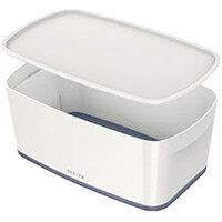 Leitz MyBox Small Storage Box With Lid White/Grey 52291001 PK 4