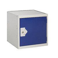 One Compartment Cube Locker Grey Body & Blue Door 300x300x300mm MC00085