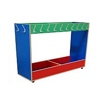 Mobile Coat Trolley with Shoe Box #ST