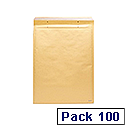 Go Secure Size 3 150x215mm Brown Bubble Lined Envelopes Pack of 100