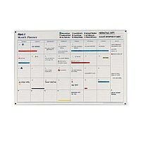 Mark-it Month Planner Laminated with Notes Column W900xH600mm – Accessory Kit, Box Per Day, Notes Column, Write On-Write Off & Reusable (MP)