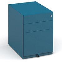Bisley Wide Steel Pedestal 420mm Wide - Blue
