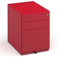 Bisley Wide Steel Pedestal 420mm Wide - Red