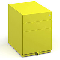 Bisley Wide Steel Pedestal 420mm Wide - Yellow