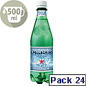 San Pellegrino Sparkling Natural Mineral Water Bottel 500ml Pack of 24