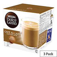 Nescafe Dolce Gusto Cafe au Lait Capsules Pack of 48 12235939