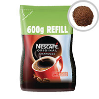 Nescafe Original Instant Coffee Granules 600g Refill Pack of 1 12226526