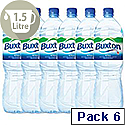 Buxton Natural Mineral Water Bottle Plastic 1.5L Still Pack 6