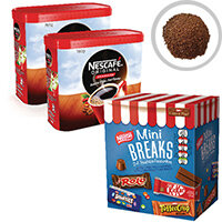 Nescafe Original 2x750g FOC Mini Breaks Mixed Selection Pack of 24 NL819841