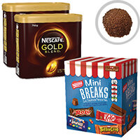 Nescafe Gold Blend 2x750g FOC Mini Breaks Mixed Selection Pack of 24 NL819842