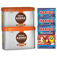 Nescafe Azera Americano Coffee 500g (Pack of 2) Plus FOC Haribo Starmix 140g (Pack of 3) NL819853