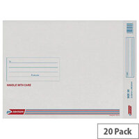 GoSecure Bubble Lined Envelope Size 10 350x470mm White Pack of 20 PB02133