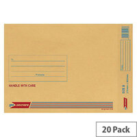 GoSecure Bubble Lined Envelope Size 8 270x360mm Gold Pack of 20 PB02155