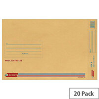 GoSecure Bubble Lined Envelope Size 9 300x445mm Gold Pack of 20 PB02156