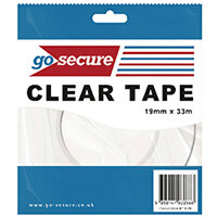 Go Secure Small Tape 19mmx33m Pack of 12 PB02298