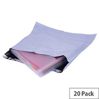 GoSecure Extra Strong 440x320mm Polythene Protective Envelopes Pack of 20