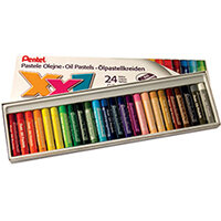 Pentel Oil Pastels Assorted Large Pack of 24 GHT-24
