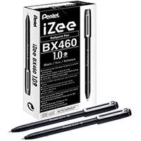 Pentel iZee Ballpoint Pen 1.0mm Black Pack of 12 BX460-A