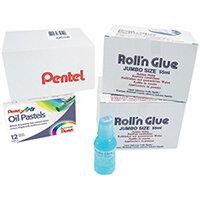 Pentel Roll n Glue Class Pack Pack of 24 ER501/24CP